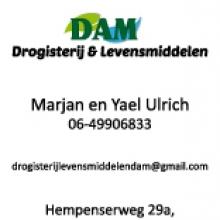 Visitekaartje Dam Drogisterij en Levensmiddelen